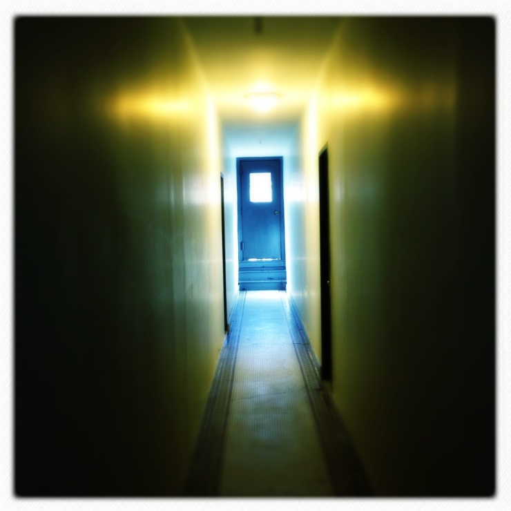 The yellow hallway to the Blue Door... Remages