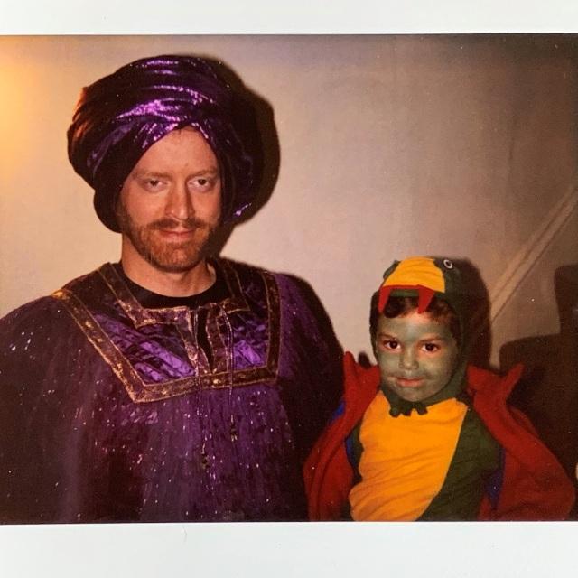 Sultan Russ (dad) and Lizard Max (son) Halloween 1995